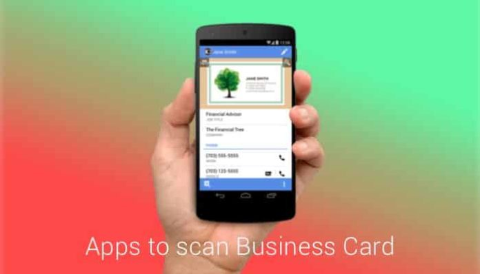 business card scanner apps